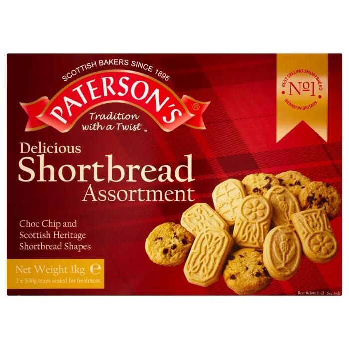 Paterson Shortbread Assortment Selection 1kg £1.99 @ Farmfoods