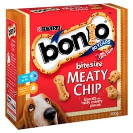 Bonio Meaty Chip Bitesize 400g £1.25 + £4.95 for standard delivery (£2.95 postage for pet club members) Possibly instore @ Jollyees