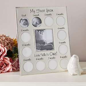 My First Year Silver Plated Photo Frame - £4 + Free Click and Collect @ Dunelm