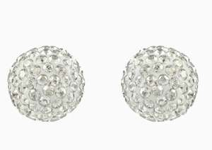 Blow pierced earrings, grey, mixed metal finish £31 @ Swarovski Free click and collect