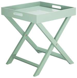 Habitat Oken Sage Green Square Tray Table - £20 + Free Click & Collect at Argos