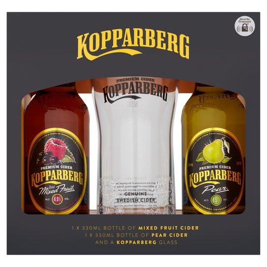 1/2 Price Gift Set Clearance e.g Kopparberg 2 X Premium Cider & Glass Gift Set £2.50 / Kraken Black Spiced Rum Gift Set £5 @ Tesco
