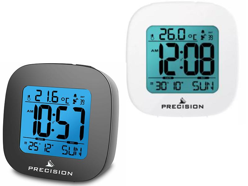 Precision Radio Controlled LCD Alarm Clock + 2 yr Guarantee - Black or White - £6.59 (Free Click & Collect ) @ Argos