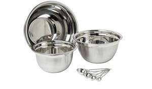 Argos Home Set of 3 Stainless Steel Mixing Bowls and Spoons - £9 + Free Click and Collect @ Argos