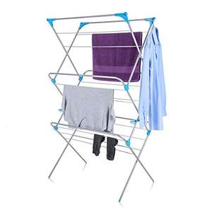 Minky Extra Wide 3 Tier Airer, Metal, Silver, 18 m - £23.33 @ Amazon