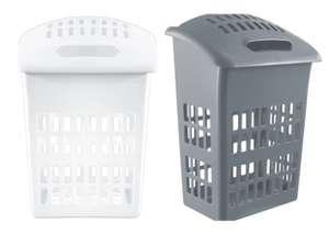 Argos Home 54 Litre Laundry Hamper - White, or Flint Grey - £7.50 with free click and collect @ Argos