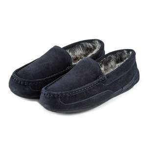 Isotoner Mens Heritage Suede Moccasin Boxed Slippers £35.00 @ totes