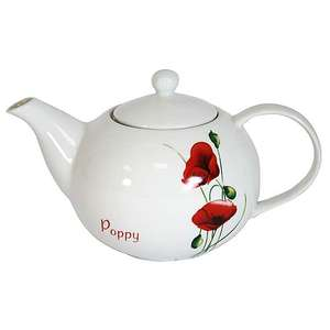 Poppy Teapot - £3.75 + Free Click and Collect @ Dunelm