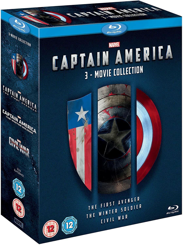 Captain America 1-3 [Blu-ray] [Region Free] £14.99 (£2.99 p&p non prime) @ Amazon