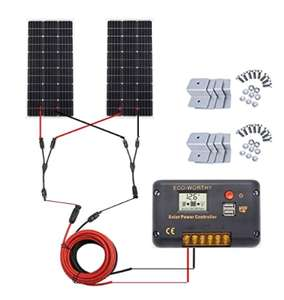 200W EcoWorthy Solar Panel Kit £143.99 Sold by XXK and Fulfilled by Amazon.