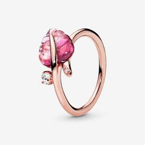 Pink Murano Glass Leaf Ring £28 @ Pandora Shop