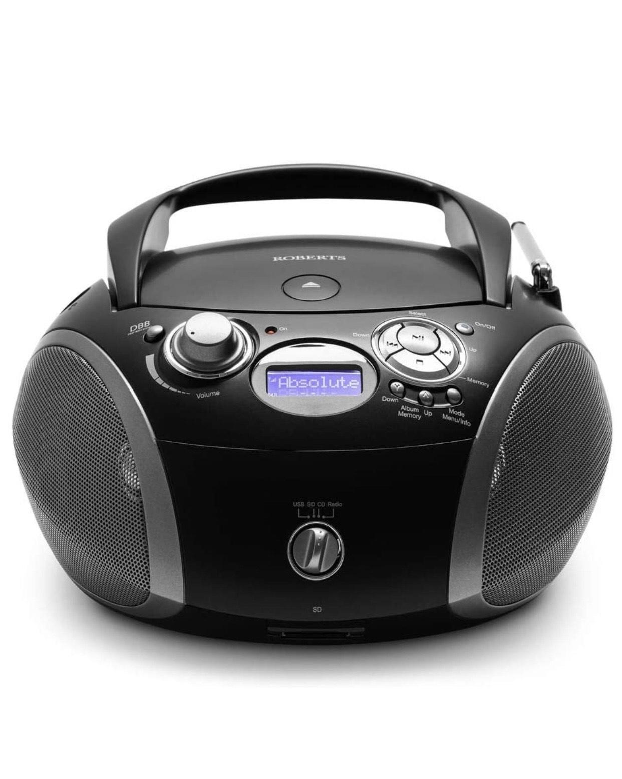 Roberts Radio ZoomBox 3 DAB/DAB+/FM/SD/USB Radio with CD Player £71.95 at Amazon