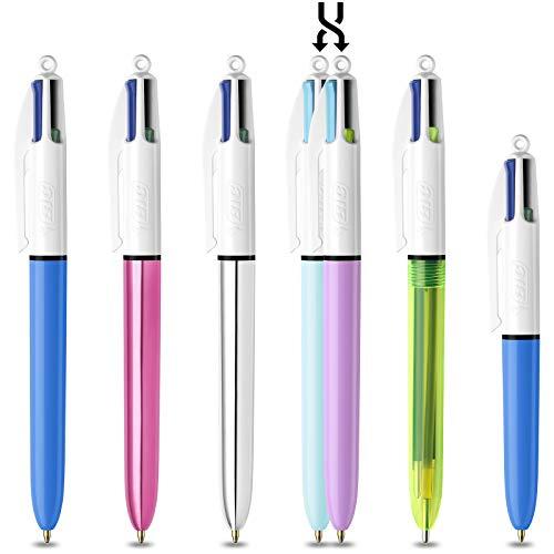 BIC 4-colour ballpoint pens and case (6 pens) £5.00 @ Amazon Prime (+£4.49 non-prime)