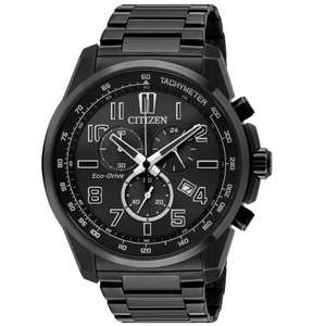 Citizen Men's Eco Drive Chronograph Black Stainless Steel Watch, £124.99 at Argos (Free click and colect)