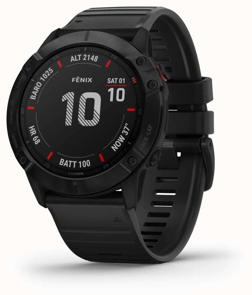 Garmin Fenix 6X Pro Gorilla Glass | Black | Multisport Smartwatch £485.10 at First Class Watches