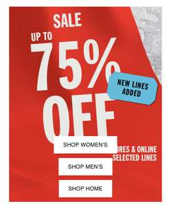 Urban outfitters up to 75% off