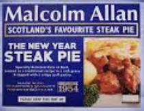 Malcolm Allan Steak Pie, 1kg, £5.00 in ASDA (Glasgow)