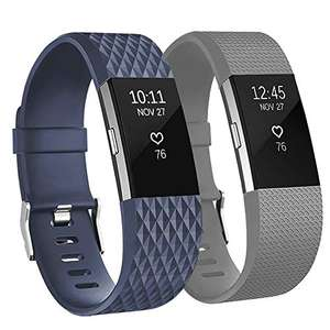 Adepoy Replacement Sport Strap Band Compatible for Fitbit Charge 2 - £2.15 (+£4.49 Non Prime) @ Sold by Cross 11 and Fulfilled by Amazon.