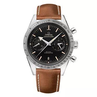 Omega Speedmaster '57 Men's Brown Leather Strap Watch £4500 at Ernest Jones