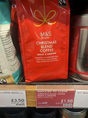 M&S - Christmas Blend Grounded Coffee - £1.50 @ Marks & Spencer (Canterbury)