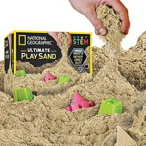 National Geographic Kinetic Sand 2.7kg Natural (£13.57) Blue (£14.42) @ Amazon Prime (+£4.49 NP)