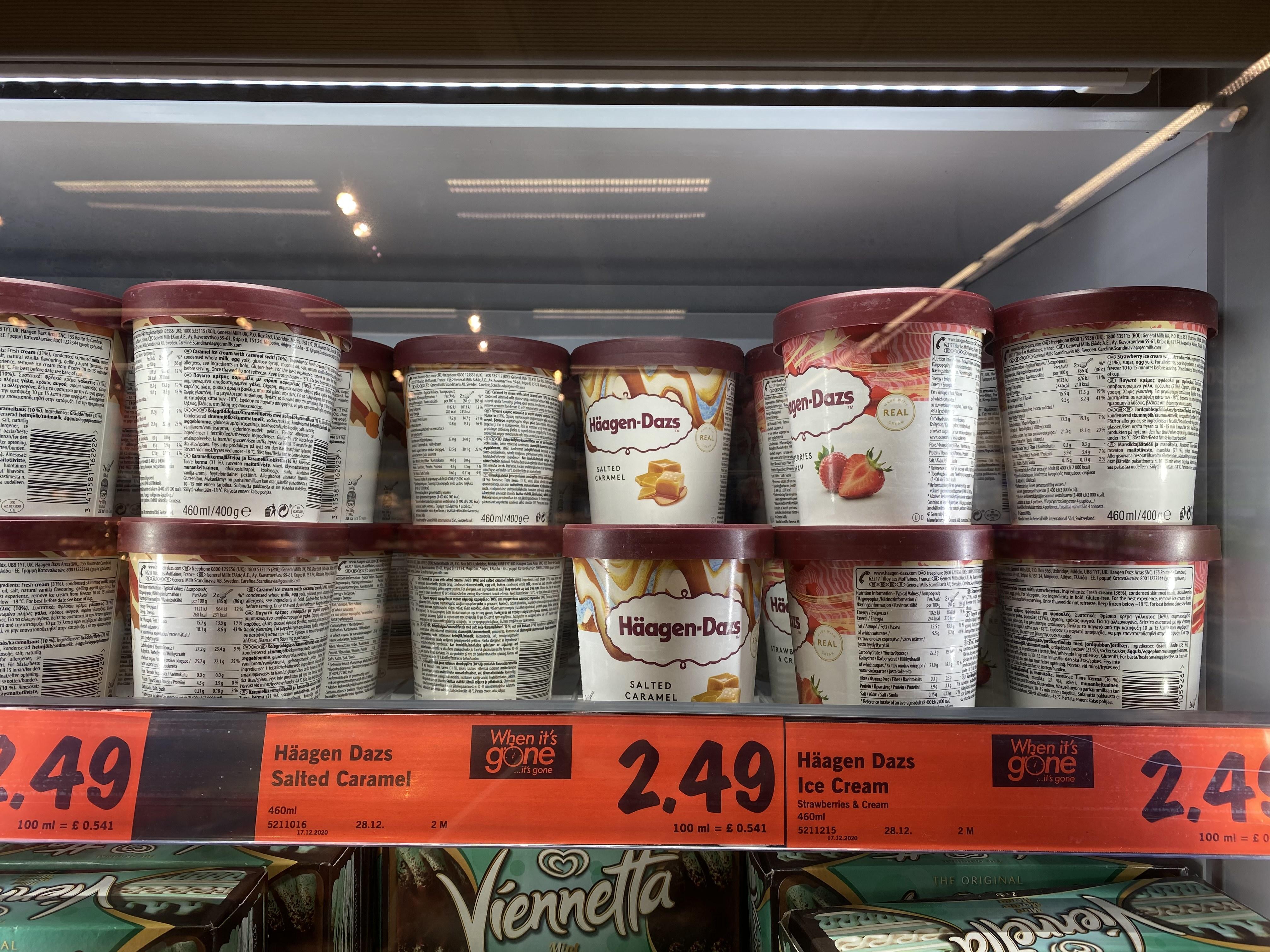 Haagen-Dasz 460ml Ice Cream Assorted Flavours @ Lidl Bridgwater