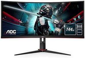 AOC CU34G2 x - 34 Inch WQHD Curved Gaming Monitor, 144 Hz, 1 ms, VA, AMD FreeSync - £459.95 @ Amazon