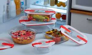 Pyrex Cook & Heat Set of 9 dishes and lids £59.99 + £1.99 delivery @ Groupon