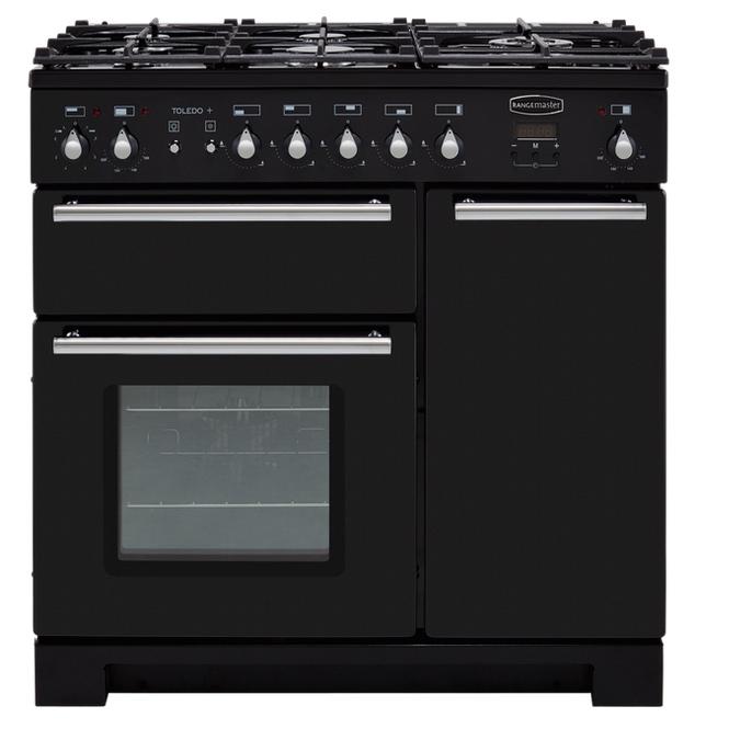 Rangemaster TOLP90DFFGB/C Toledo+ 90cm Dual Fuel Range Cooker Black £899 with code + £40 Boots points @ Boots Kitchen Appliances