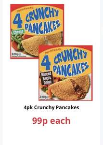 4 pack 'crunchy pancakes' 99p at Farmfoods