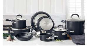 Circulon Premier Hard Anodised Induction 13 Piece Cookware Set in Black £197.89 at Costco