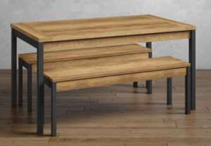 Baltimore Dining Table with Benches - £299.40 @ M&S