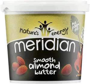 Meridian Smooth Almond Butter, 1kg. £13.49 (Prime) + £4.49 (non Prime) at Amazon