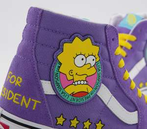 The Simpsons Lisa 4 President vans now £45 + £3.50 at Office Shoes