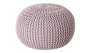 Argos Home Cotton Knitted Pod Footstool - Lavender £22.50 free click and collect at Argos