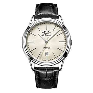 Rotary Men's Auto Watch with Off-White Dial Analogue Display and Black Leather Strap £284.88 at Amazon