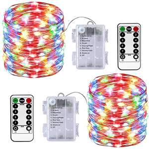 2 Pack LED Fairy Lights Battery Operated String Lights 10M 100 LED lights - £7.47 (+£4.49 Non-Prime) - Sold by HOMOZE / FBA