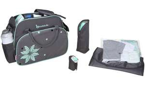 Badabulle Vintage Changing Bag - Grey/Blue for £7.50 (free click and collect) @ Argos