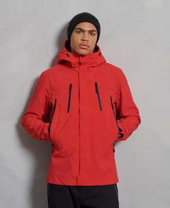 Hydrotech Ultimate Waterproof Jacket now £60 + Free Delivery (Red OR Navy) @ Superdry