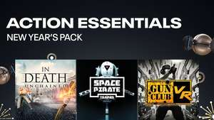 New Year's Pack: Action Pack (In Death: Unchained, Space Pirate Trainer & Gun Club VR) £33.99 @ Oculus Quest store