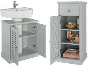 Argos Home Le Marais Louvered Single Unit // Argos Home Le Marais Louvered Under Sink Unit - Grey £33.33 each (free click & collect) @ Argos