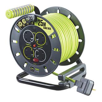 PRO XT OMU2513 13A 4-GANG 25M Cable Reel 240V - £23.99 + Free Click & Collect @ Screwfix