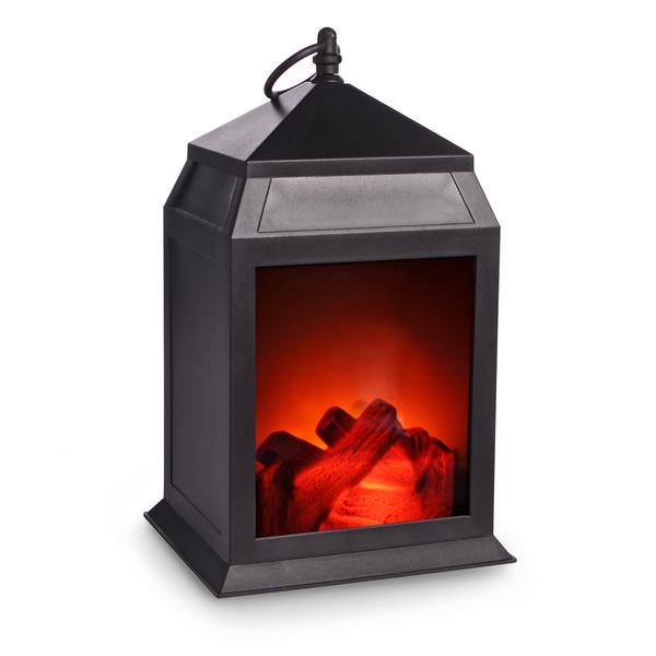 Mini LED Fireplace Lantern Matte - Black £5.24 + £2.95 del at Roov