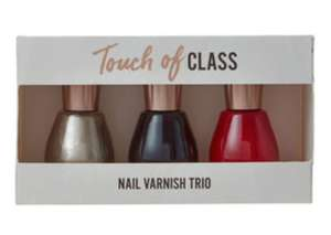 Touch of Class Nail Varnish Trio - 70p instore @ Asda Robroyston, Glasgow