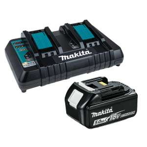 Makita DC18RD LXT Twin Port Charger & BL1850B Battery Bundle - £131.58 delivered @ Toolden