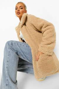 Up To 60% OFF Teddy Bear Coats In Various Styles & Colours, Prices from £15! Next Day Delivery £1.99 With Code @ Boohoo