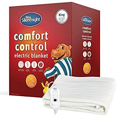 Silentnight Comfort Control Electric Blanket, White, King - £22 @ Amazon