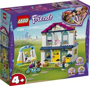 LEGO 41398 Friends 4+ Stephanie's House Dollhouse Play Set with Family Figures - £25 @ Amazon
