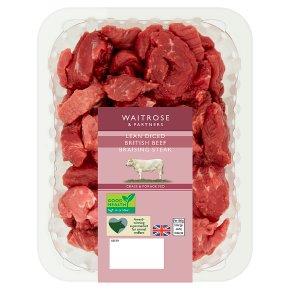 Waitrose Lean Diced British Beef Braising Steak 400g £2.83 @ Waitrose