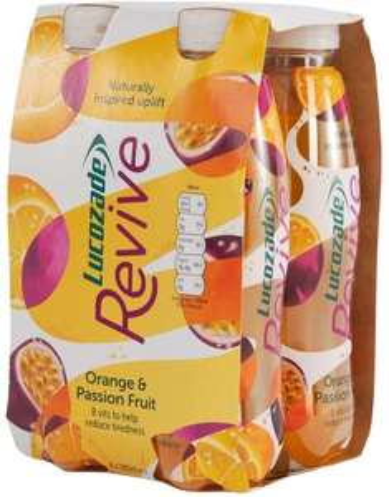 4 pack Lucozade Revive - Orange & Passion Fruit, 380ml - 75p instore @ Home Bargains, Newport/Cardiff